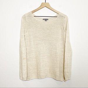 [Vince] Light Tan Oatmeal Linen Boatneck Sweater